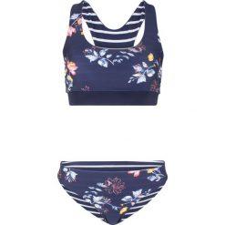 05a4d661511018 Bikini z biustonoszem bustier (2 części) bonprix niebieski z nadrukiem.  Niebieskie bikini bonprix