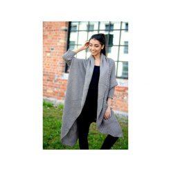 38f3de445eab0b Długi beżowy sweter damski, asymetryczny sweter, sweter damski kardigan,  narzutka damska. Kardigany