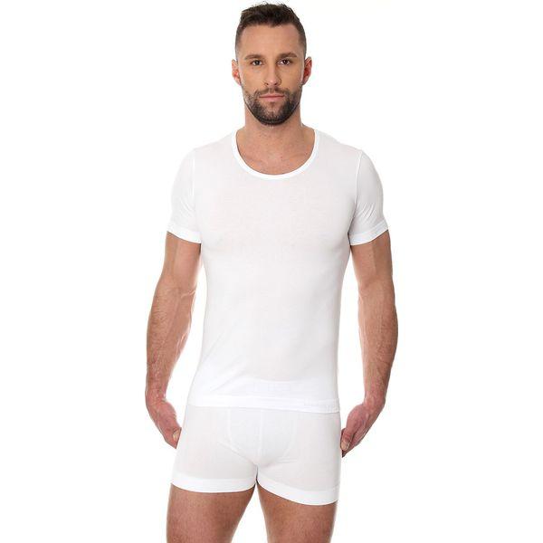 1055bfb00fcbf0 Brubeck Koszulka męska z krótkim rękawem Comfort Cotton biała r. XL  (SS00990A) - Białe bielizna sportowa męska marki Brubeck, m. Za 75.97 zł.