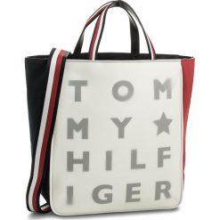fbe69c184dc68 Shopperki damskie: Torebka TOMMY HILFIGER - Logo Story Tote Transparent  AW0AW04948 901