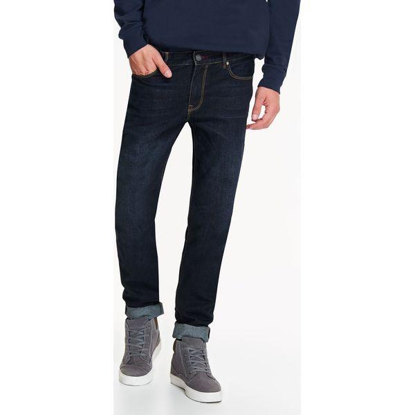Spodnie męskie jeansowe o dopasowanym kroju