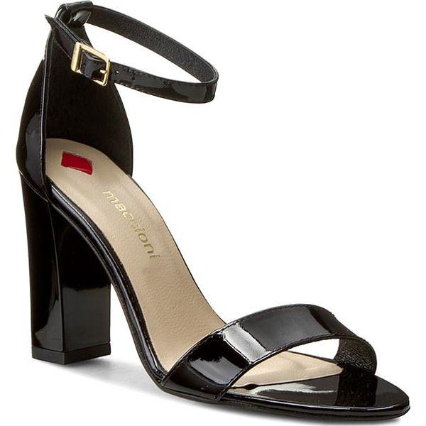 a3af13e21e293 Sandały MACCIONI - 240 Czarny - Czarne sandały damskie marki ...