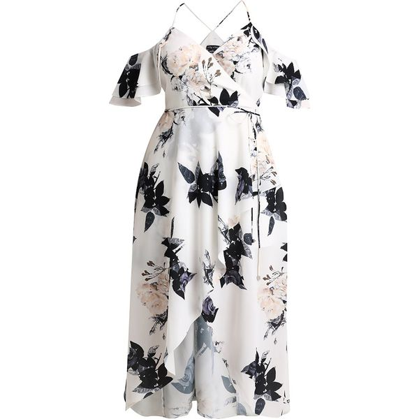 f11dcfcea5 City Chic DELICATE RUFFLE Sukienka koktajlowa cream - Białe sukienki ...