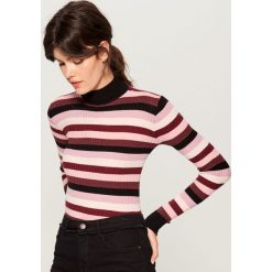 ee5baace06 Odzież damska ze sklepu Mohito - Kolekcja wiosna 2019. -33%. Dopasowany  sweter z golfem - Różowy. Swetry nierozpinane damskie marki Mohito. W  wyprzedaży za