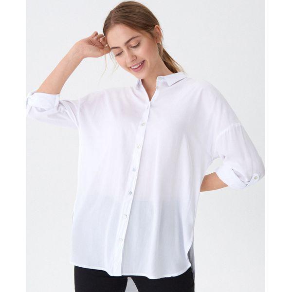 a59ab1d9341eb6 Długa koszula oversize - Biały - Koszule damskie marki House. Za ...