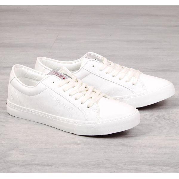 Trampki męskie eko skóra białe Cross Jeans FF1R4035C biały