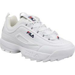 Wyprzedaż białe buty sportowe męskie Fila, bez zapięcia