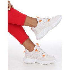 Białe obuwie damskie Casu, na sznurówki Kolekcja zima 2020