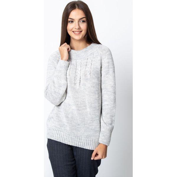 98d850b8b8928 Szary ciepły sweter QUIOSQUE - Swetry nierozpinane damskie marki ...