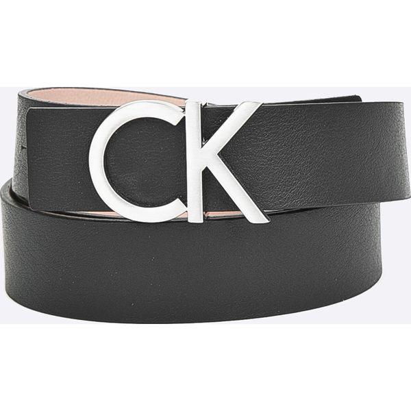 d04dbec4dc8ec Calvin Klein - Pasek skórzany - Czarne paski damskie marki Calvin ...