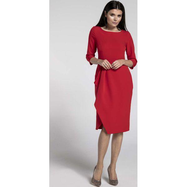 f1508c1c9e Czerwona Elegancka Sukienka z Zakładanym Dołem - Czerwone sukienki ...