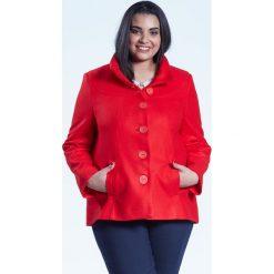 2f83c54fa9 Czerwona elegancka kurtka płaszcz Vera OVERSIZE PLUS SIZE WIOSNA. Płaszcze  damskie marki Moda Size Plus