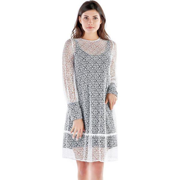 59e1b9de1 Białe sukienki damskie z okrągłym kołnierzem, proste w wyprzedaży -  Kolekcja wiosna 2019 - Sklep Radio ZET