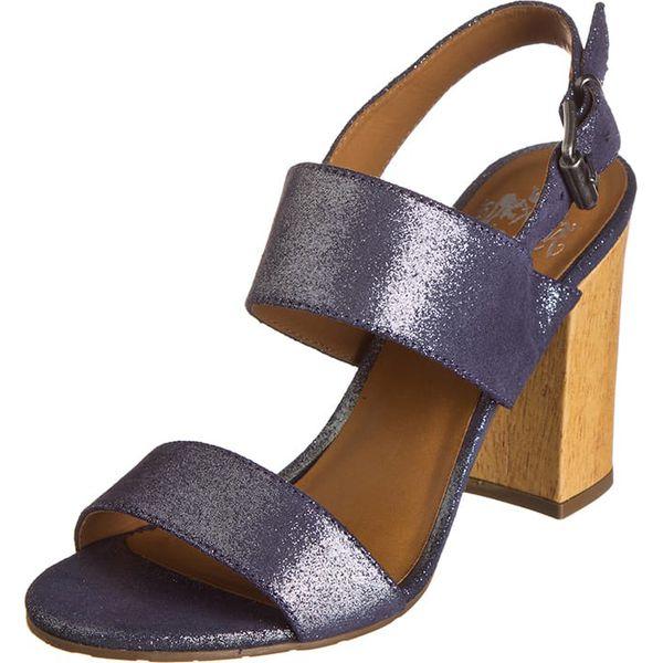 1c92d1ee Skórzane sandały w kolorze niebieskim