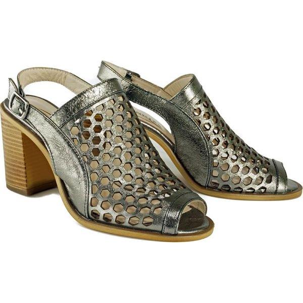 LANQIER 44C1354 srebrny, sandały damskie
