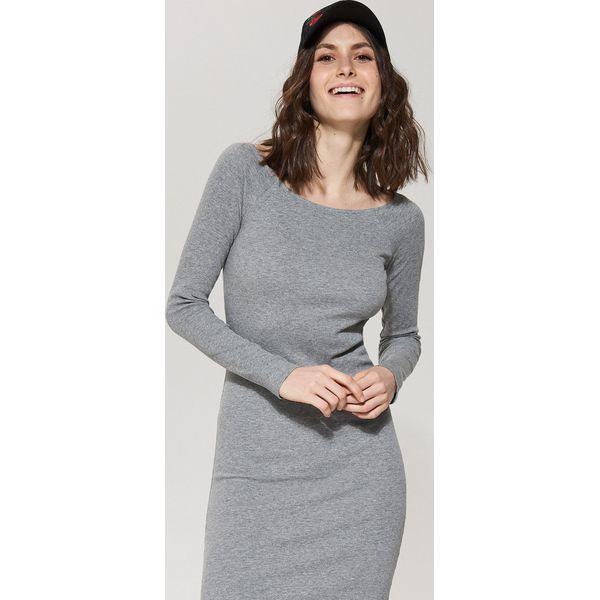 1e4f8b9232 Dzianinowa sukienka - Szary - Szare sukienki damskie marki House