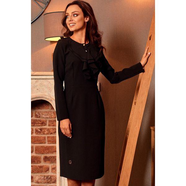 707485726e Sukienka z żabotem l270 - Czarne sukienki damskie marki Lemoniade ...