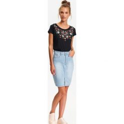8a28474f Spódnica jeansowa z przetarciami - Spódnice damskie - Kolekcja lato ...