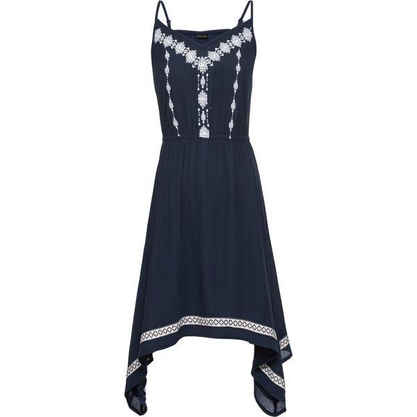48a2d1d8 Sukienka z haftem: must have bonprix ciemnoniebieski