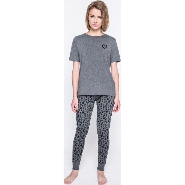 bbe08633118340 Pieces - Piżama Xmas Ribbon - Szare piżamy damskie Pieces, z ...
