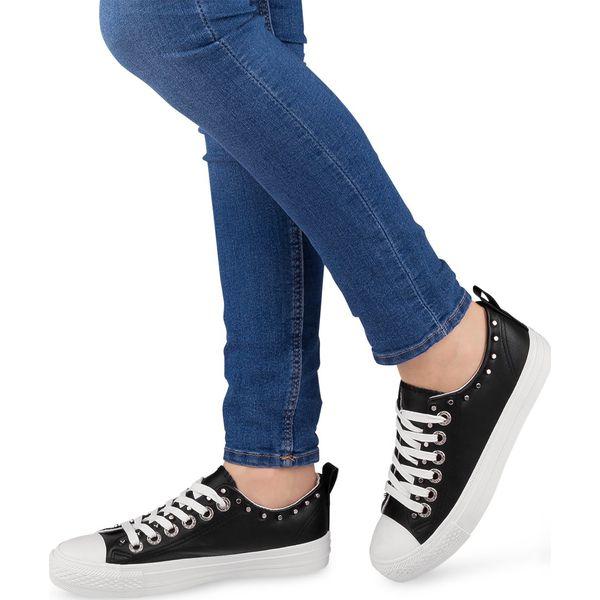 Trampki damskie Ideal Shoes SM 2738 Czarne