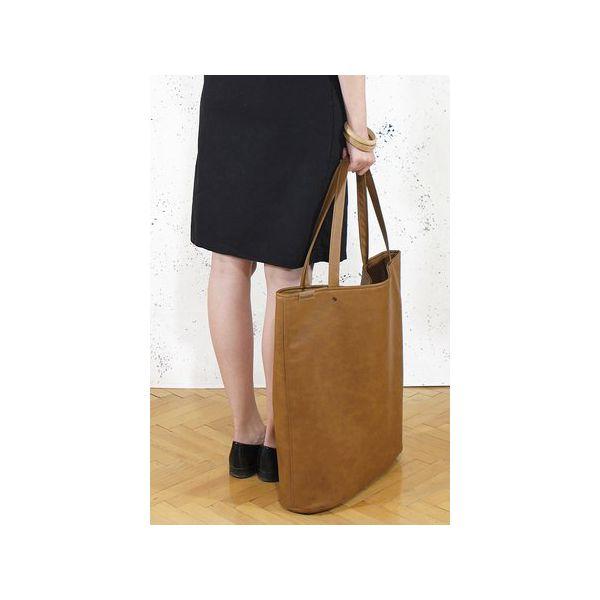 b462ba6c Mega Shopper bag ruda torba oversize Vegan
