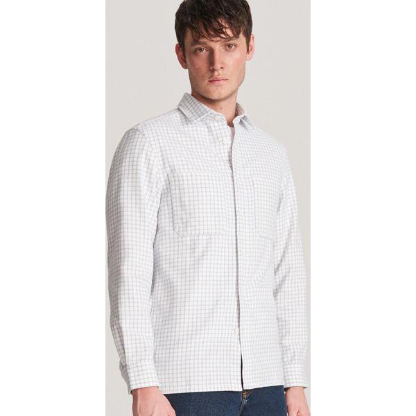 Niebieskie koszule męskie Reserved Kolekcja zima 2020  tOEUm