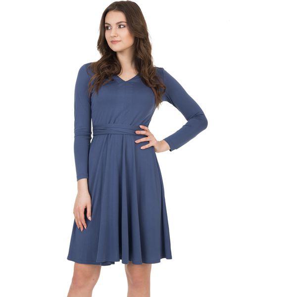 a983fac019 Elegancka sukienka wiązana z tyłu BIALCON - Sukienki damskie marki ...