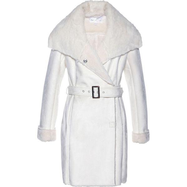 12e3e3220f09b Płaszcz ze sztucznej skóry bonprix biel wełny - Białe płaszcze ...