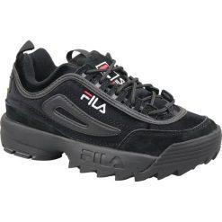 Wyprzedaż czarne obuwie sportowe damskie Fila, trekkingowe