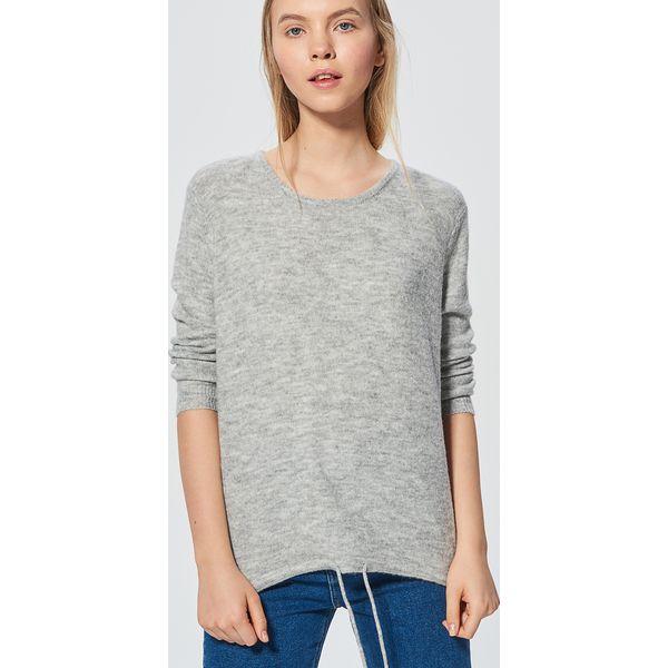 31e931ce8293 Melanżowy sweter ze ściągaczem - Jasny szary - Swetry nierozpinane ...