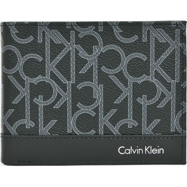 c317d9a485f20 Calvin Klein Jeans - Portfel skórzany - Szare portfele męskie marki ...