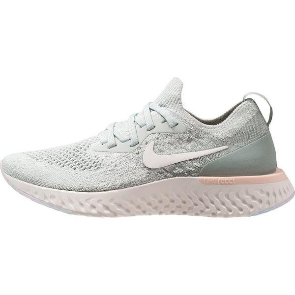 wysoka moda niesamowita cena buty na tanie Nike Performance EPIC REACT FLYKNIT Obuwie do biegania treningowe light  silver/sail/mica green/crimson tint/phantom
