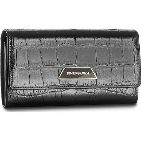 9dba3351822f8 Duży Portfel Damski EMPORIO ARMANI - Y3H008 YAL6B 80001 Nero - Czarne  portfele damskie marki Emporio Armani. W wyprzedaży za 619.00 zł.