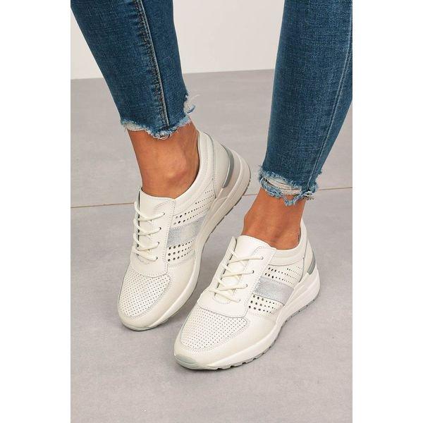 białe sneakersy filippo buty sportowe skórzane sznurowane dp73620wh