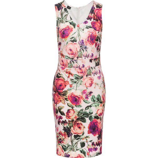 b9600f19ff Sukienka neoprenowa w kwiaty bonprix różowy w kwiaty - Sukienki ...