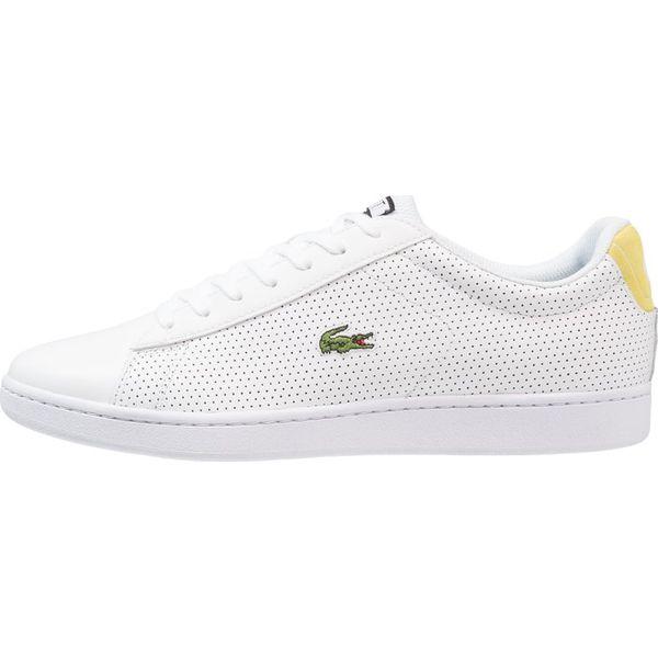 Lacoste CARNABY EVO Tenisówki i Trampki whitefluro yellow