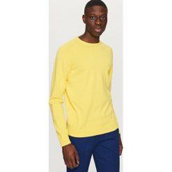 Swetry przez głowę męskie: Gładki sweter – Żółty