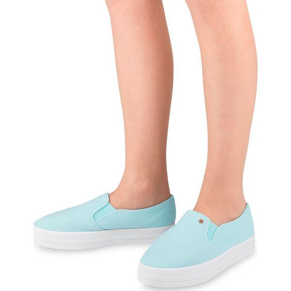 Tenisówki damskie Ideal Shoes X 2501 Niebieskie