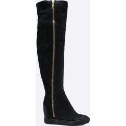 aa5f875a Wyprzedaż - czarne obuwie zimowe damskie na koturnie - Kolekcja lato ...