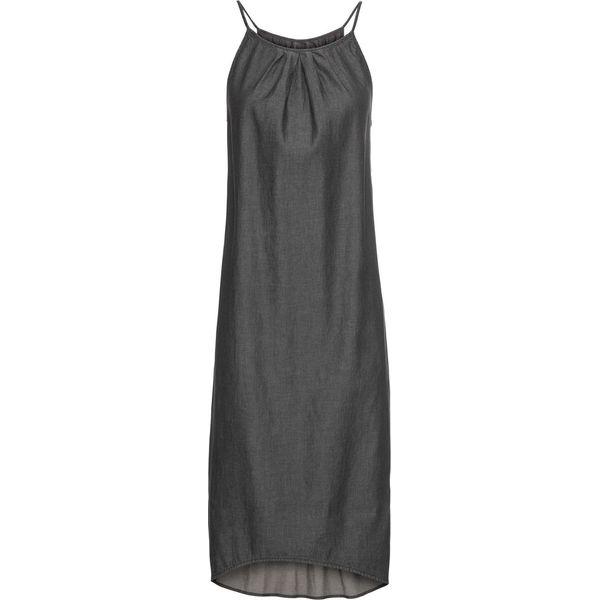 213728d37b Sukienka z materiału w optyce denimiu bonprix czarny denim ...