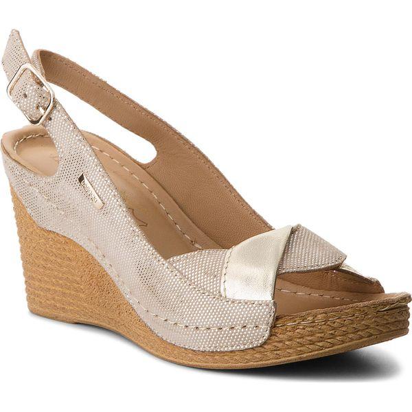 7d0b80b35bdb8 Sandały LASOCKI - RST-4781-07 Złoty - Brązowe sandały damskie marki ...