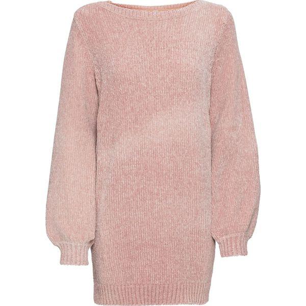 d9a4dc927b99f1 Długi sweter z szenili bonprix stary jasnoróżowy - Swetry ...