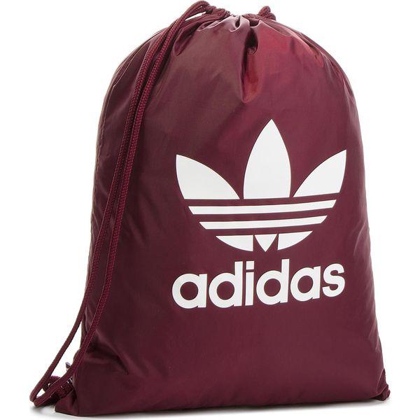03f44d1a68fe2 Plecak adidas - Gymsack Trefoil DQ3161 Maroon - Fioletowe plecaki ...