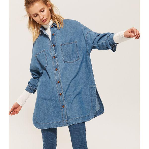 4e6f315eb7 Jeansowa koszula oversize - Niebieski - Koszule damskie marki House ...