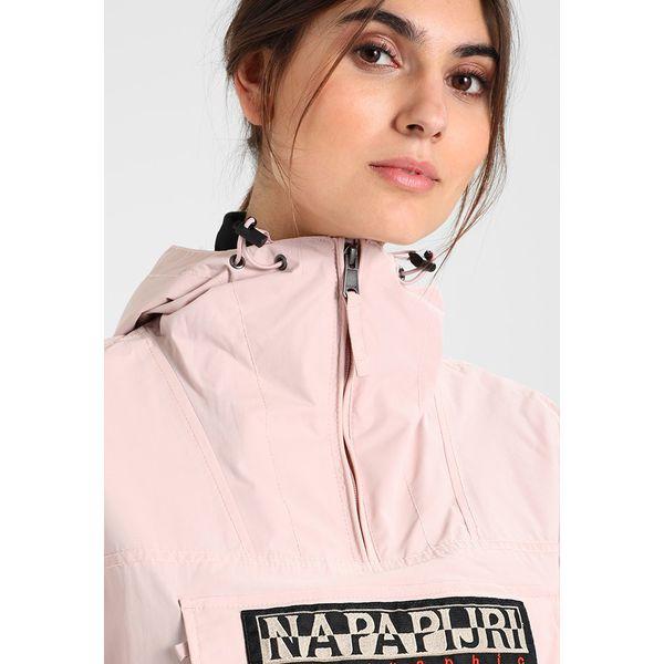 Napapijri RAINFOREST Kurtka przeciwdeszczowa pale pink Zalando