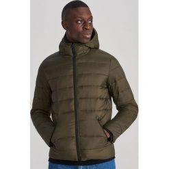 Pikowana kurtka z kapturem Khaki