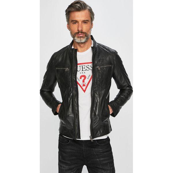 0a7621db205b6 Guess Jeans - Kurtka skórzana - Kurtki męskie marki Guess Jeans. W  wyprzedaży za 649.90 zł. - Kurtki męskie - Kurtki i płaszcze męskie -  Odzież męska ...