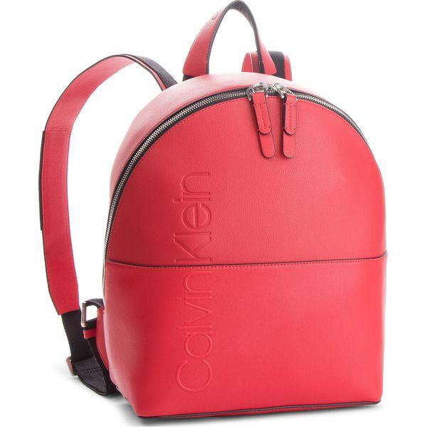 84e7ec3b0dfbc Plecak CALVIN KLEIN - Dual Backpack K60K604477 Dual Backpack 626 - Czerwone  plecaki damskie marki Calvin Klein, ze skóry ekologicznej, klasyczne.