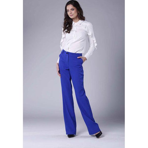 1dd21b8305adc7 Chabrowe Eleganckie Spodnie z Prostymi Nogawkami. - Spodnie sportowe ...